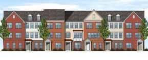 front townhouse elevation