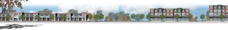 plaza/street elevation