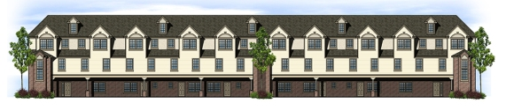 rear multi-family elevation