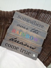 somewhere over the rainbow sign