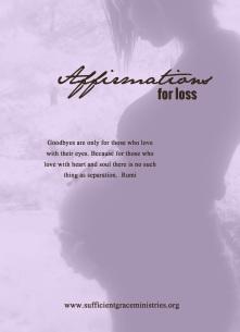 affiramtions for loss
