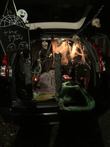 halloween scene in the trunk