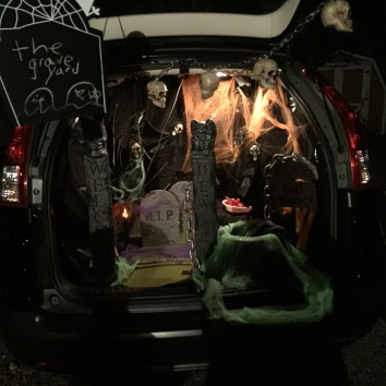 halloween scene in the trunk