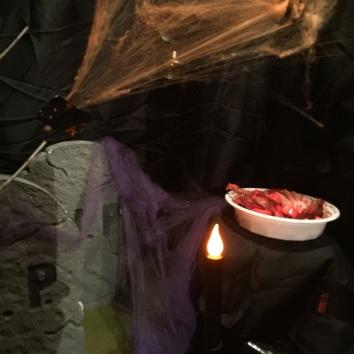 halloween scene dinner