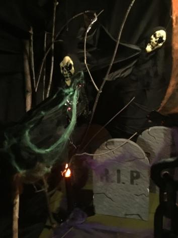 halloween scene spooky