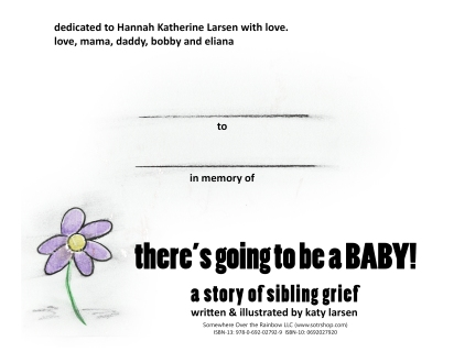 there's going to be a baby: dedication title page